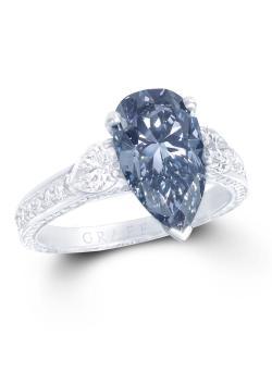 Small Of Blue Diamond Ring