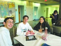 Josh Kavner, 17, of Farmington Hills; Eli Weil, 18, and Zoe Weil, 16, of West Bloomfield