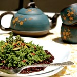 Tahini, Goji Berry Kale Salad with Bhutanese Black Rice