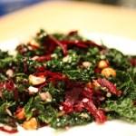 Salade de kale de Noël