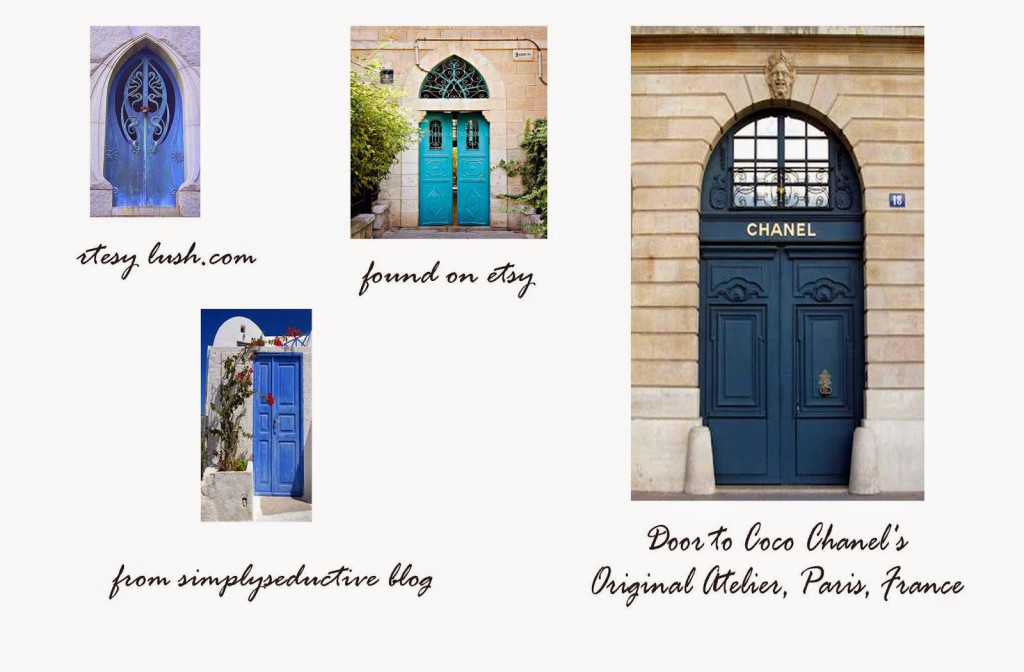ideas for blue doors