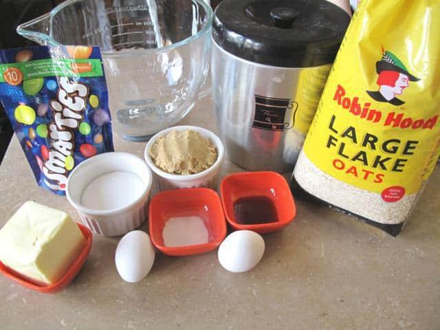 Smartie Oatmeal Cookies