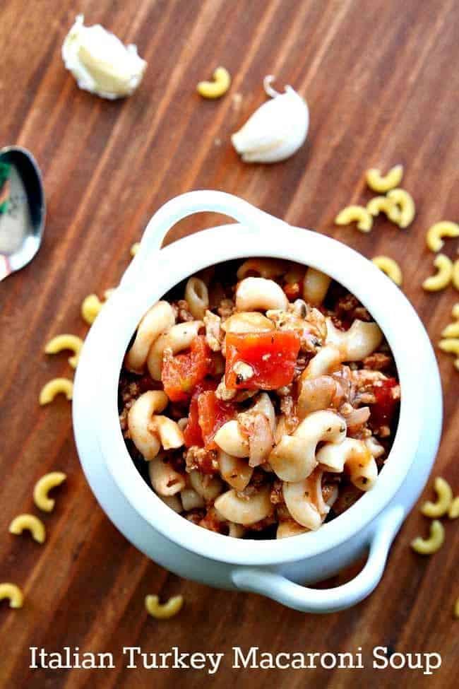 Italian Turkey Macaroni Soup - The Kitchen Magpie