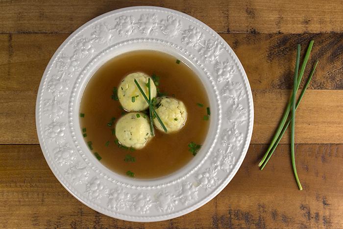 Semolina Dumpling Soup (Griessnockerlsuppe) • The Kitchen Maus