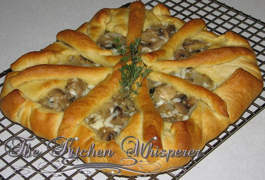 Savory Caramelized Onion, Mushroom and Thyme Tart