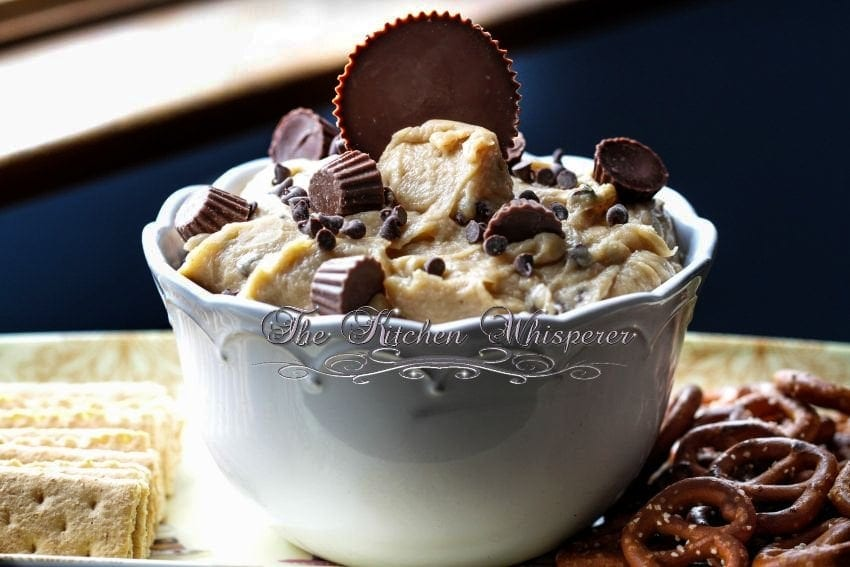 Chocolate Peanut Butter Cup Cookie Dough Dip