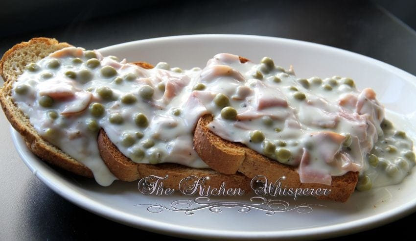 Creamed Chipped Ham (Beef) on Toast - SOS