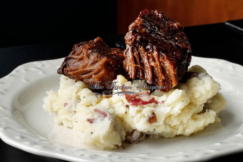 Slow Baked BBQ Boneless Beef ShortRibs