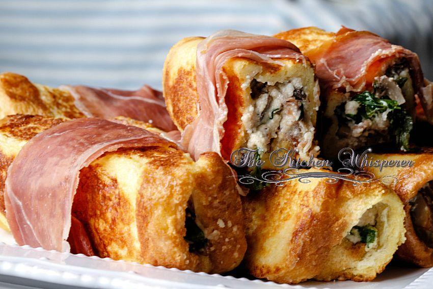 Savory Ricotta Mushroom Pancetta stuffed French Toast7
