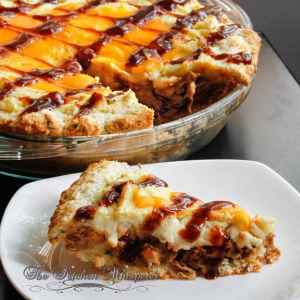 Whiskey Pulled Pork Shepherd S Pie With Cheddar Biscuit Crust Free Recipe Below