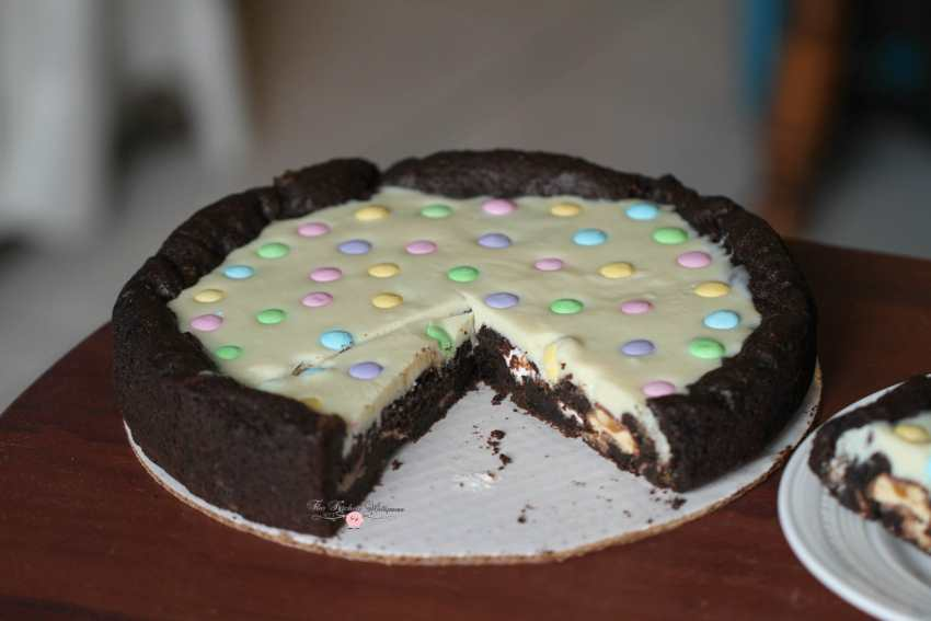 Deep Dish Chocolate Easter Cookie Pizza + Easter Basket Tutorial!