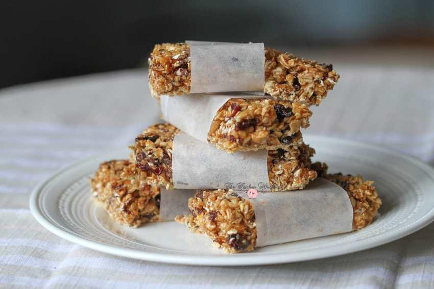 Skinny Peanut Butter Protein Granola Bars9