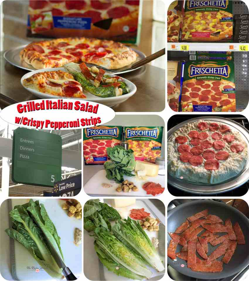 Grilled Italian Salad Collage