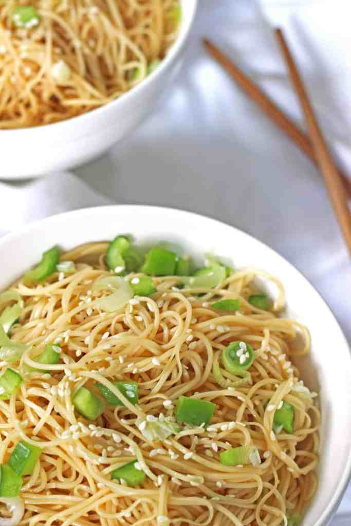 Simple Sesame Noodles - The Kiwi Country Girl