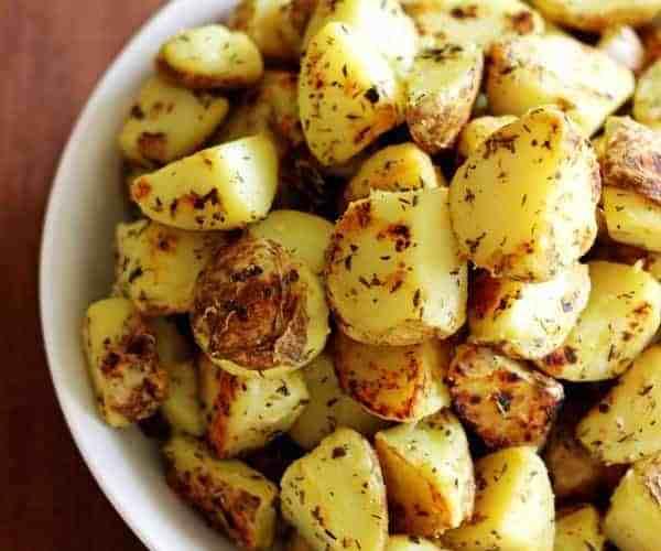 Garlic, Herb & Parmesan Fried Potatoes