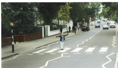 Tammy at Abbey Road in London