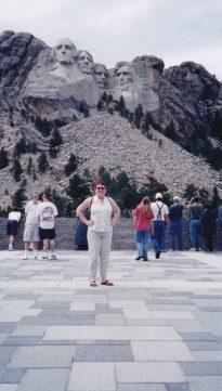Tammy visiting Mt. Rushmore.