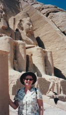 Tammy visiting the Temple of Ramses, Aswan, Egypt.