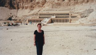 Tammy visiting the Temple of Hatshepsut, Egypt.