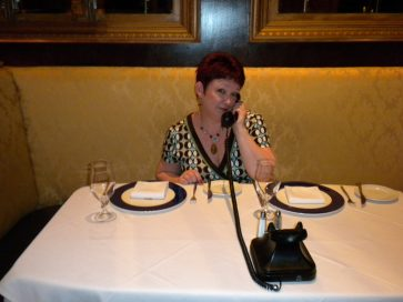 Tammy at The Pump Room, Booth 1, Chicago.