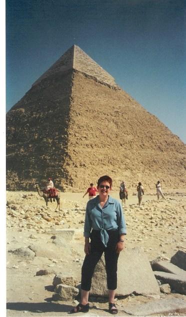 Tammy at Giza, Egypt.