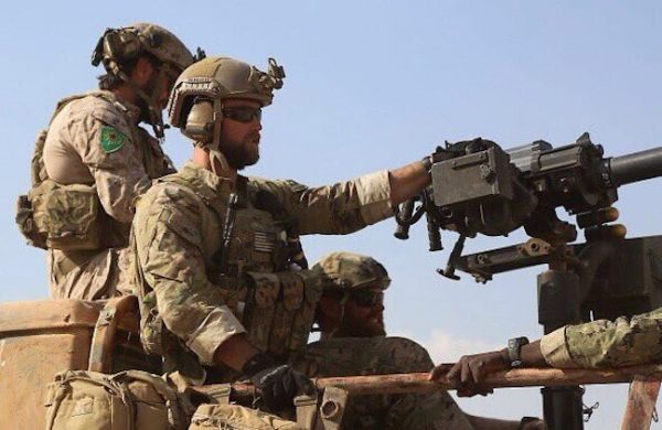 US fighters Caught on Camera on ISIS Frontline in Syria