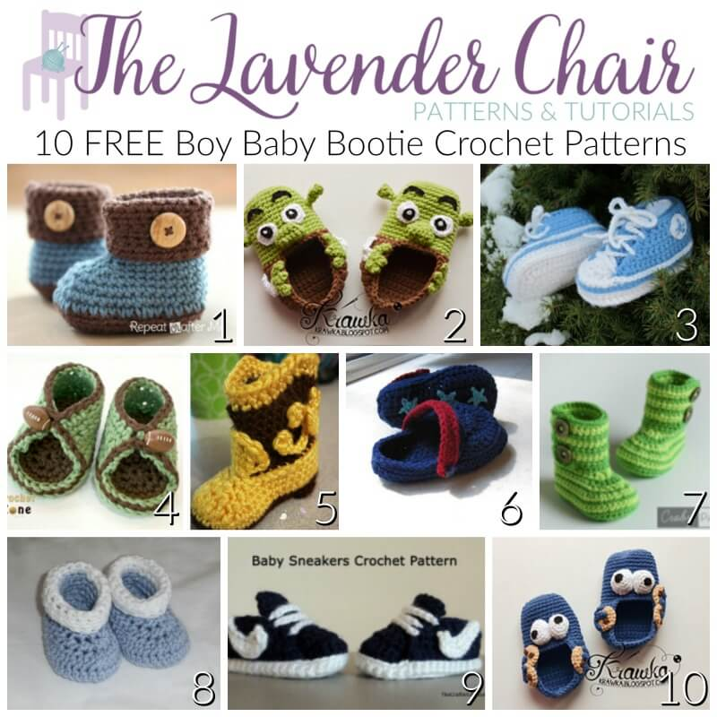 10 FREE Baby Booties Patterns For Boys