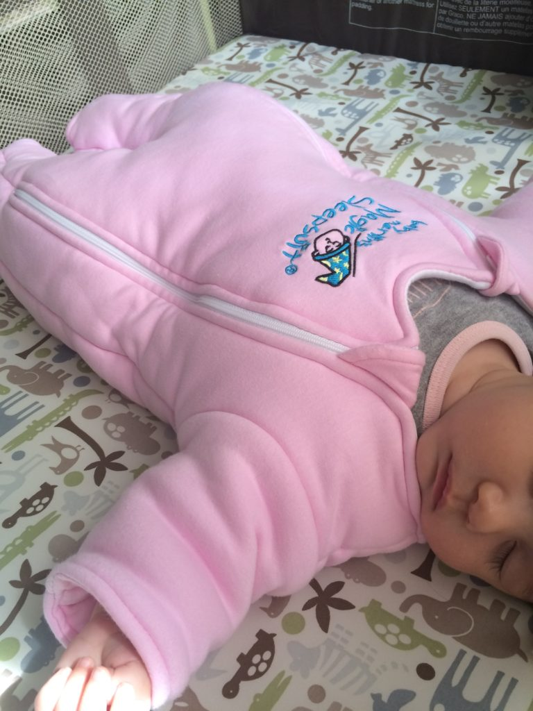 Transition from Swaddle with Baby Merlin's Magic Sleepsuit