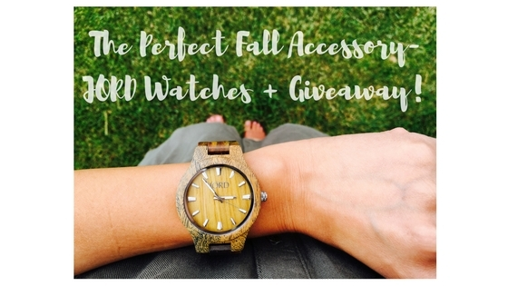 The Perfect Fall Accessory- JORD Watches + Giveaway!