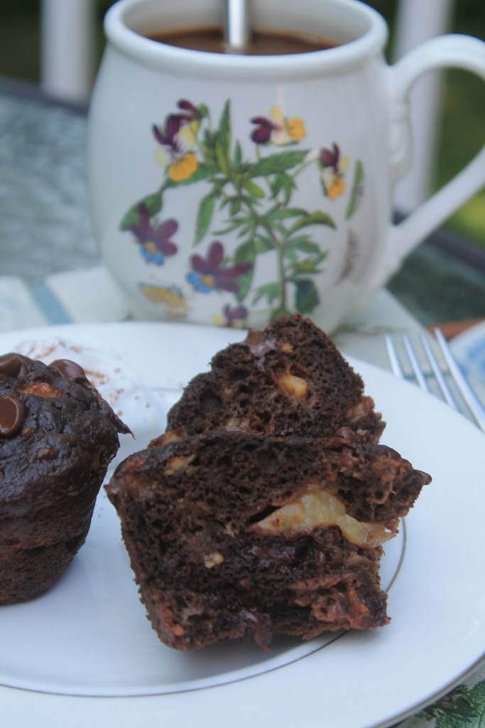 Double Chocolate Banana Kiwi Muffins | The Lazy Vegan Baker