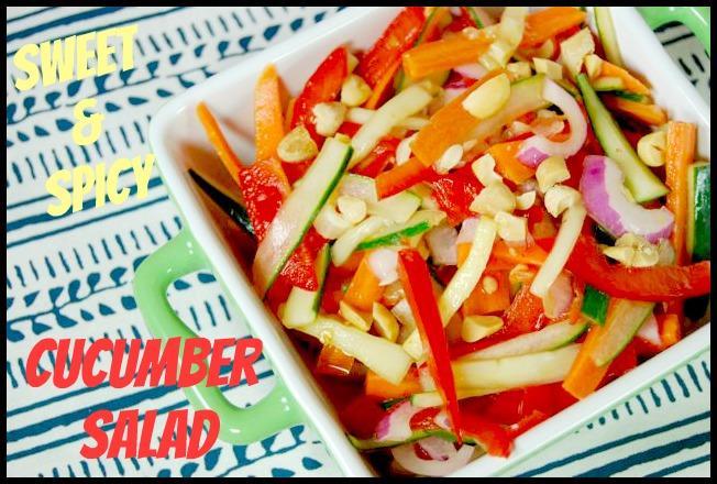 cucumber4 Sweet & Spicy Cucumber Salad
