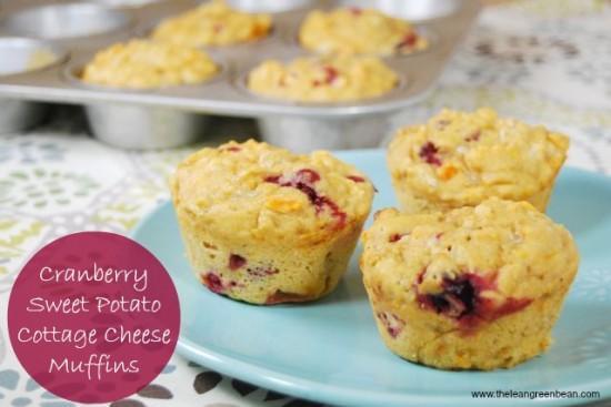 cottagecheesemuffin e1352693735929 Cranberry Sweet Potato Cottage Cheese Muffins