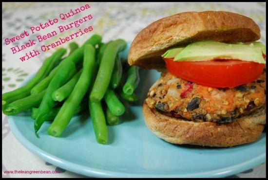 Try these Sweet Potato Quinoa Black Bean Burgers next time you need a quick dinner. They're gluten-free and vegan and the tart cranberries perfectly compliment the sweet potatoes!