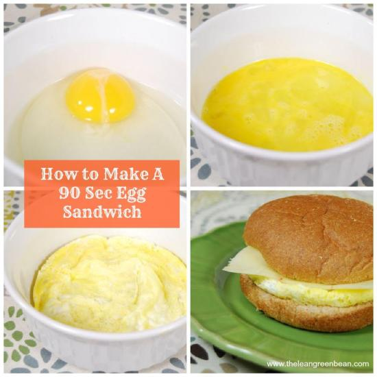 microwave egg sandwich Breakfast Sandwich in 90 Seconds