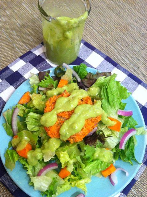 Lemon Avocado Salad Dressing is light and flavorful and an easy way ...