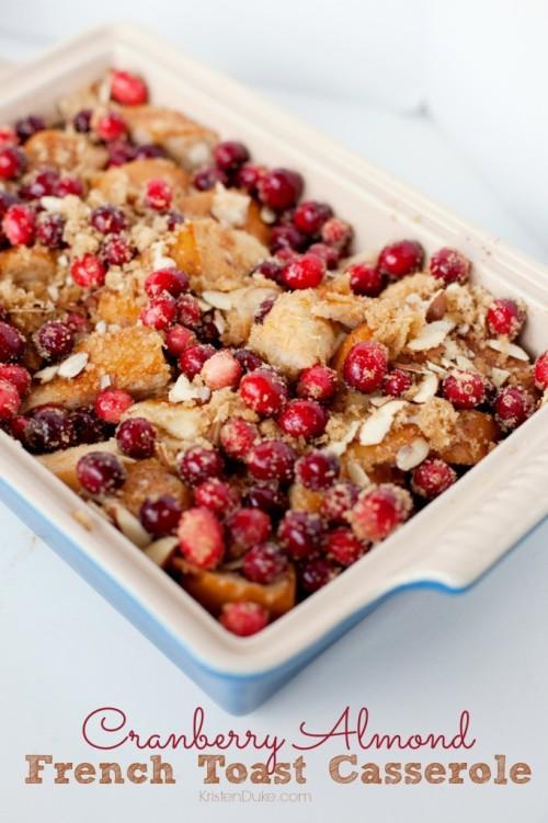 Cranberry Almond French Toast Casserole 682x1024 e1387635179203 10 Christmas Breakfast Ideas