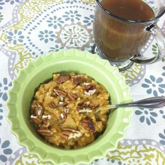 pumpkin steelcut oats 10 Christmas Breakfast Ideas