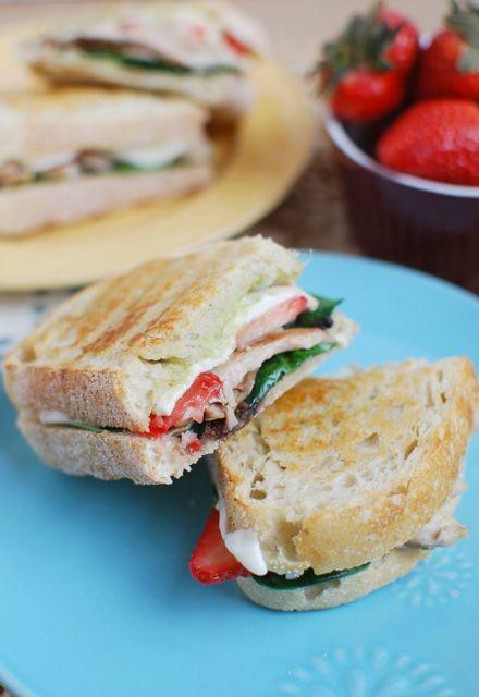 Strawberry Chicken Panini