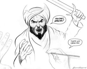 "Bosch Fawstin's  winning entry in the Garland, Texas ""Draw Muhammad"" contest."