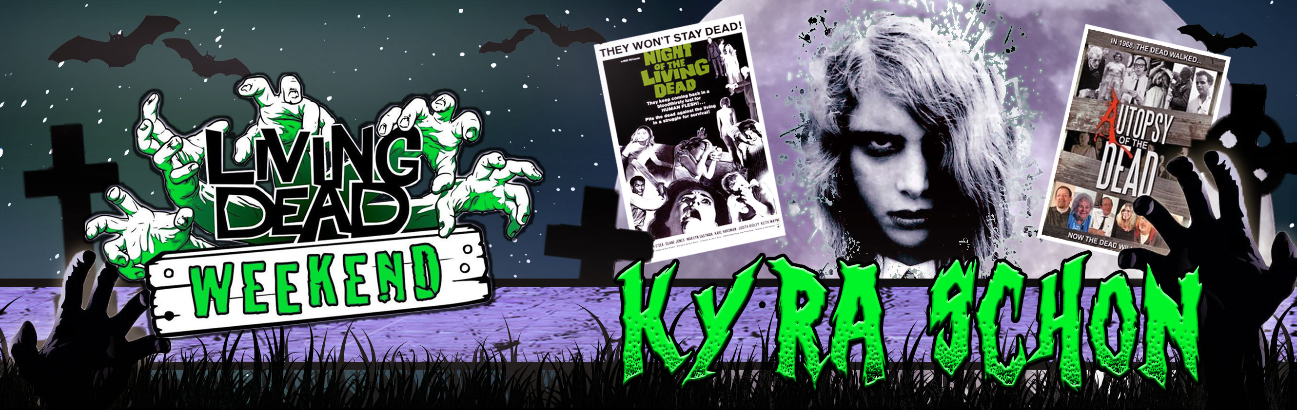 Kyra Schon AKA Night of the Living Dead's Ghoul Girl Karen Cooper at Living Dead Weekend 2016