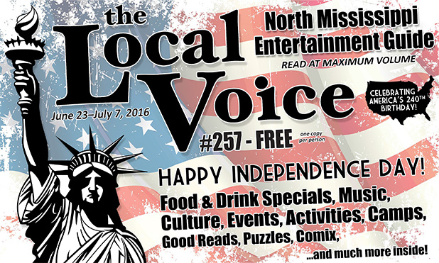 The Local Voice #257 is out now – download the PDF for Entertainment News in Oxford and North Mississippi