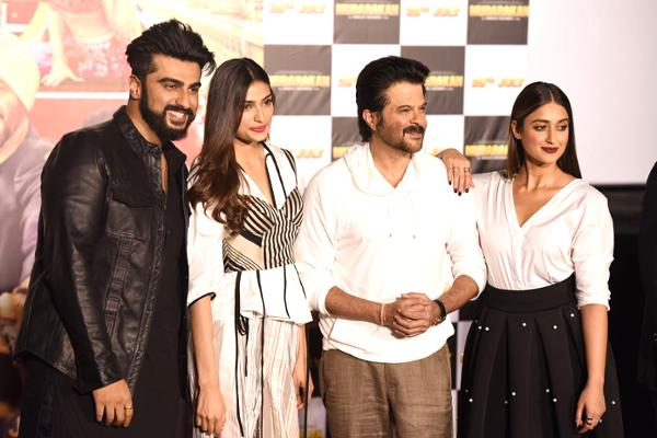 Stars Dazzle at Red Carpet Trailer Launch For Mubarakan