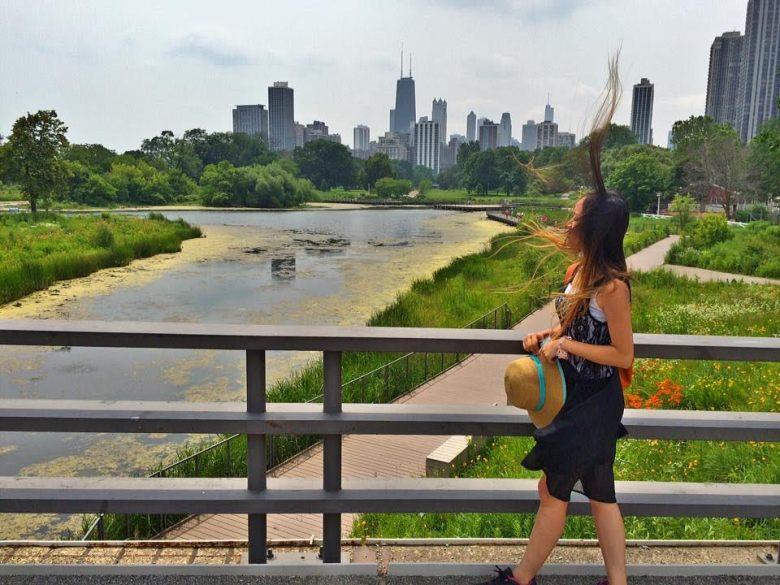 Skyscraper hair dominating Chicago Skyline! IG: @littlemisshappyfeet