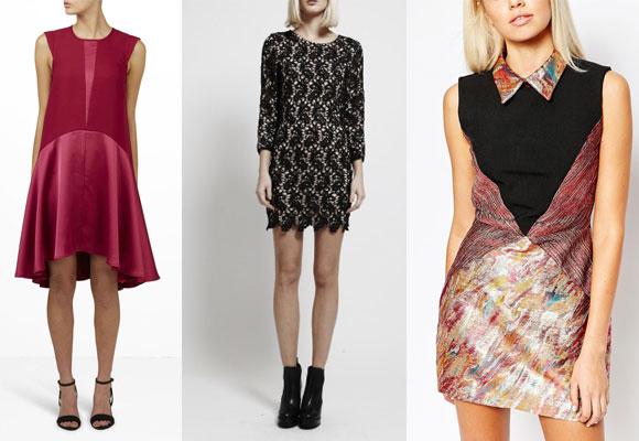 Y.A.S hot pink dress ,Goldie lace dress y Sister Jane metallic dress