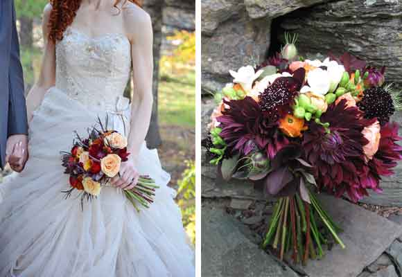 2 y 3 Bouquet de invierno. Foto de Duback Photography 2 y 3 El color es uno de los fuertes de la diseñadora Alison Ellis. Foto de Alison Ellis