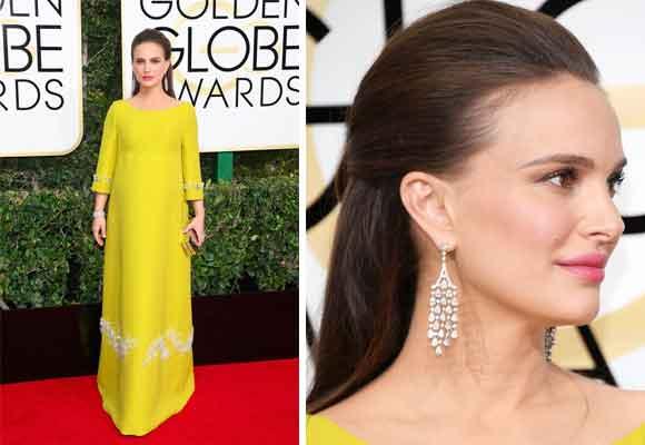 La elegantísima Natalie Portman con joyas de Tiffany´s