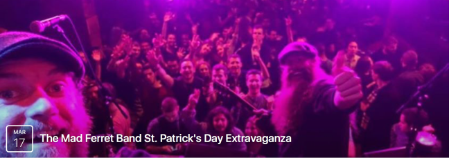 St. Patrick's Day 2017 with The Mad Ferret Band