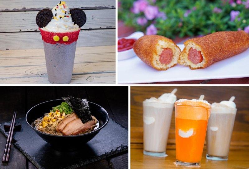Mickey Shake, Corndog, Pork Ramen, Beer Float