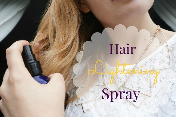Easy DIY Hair Lightening Spray | The Makeup Dummy