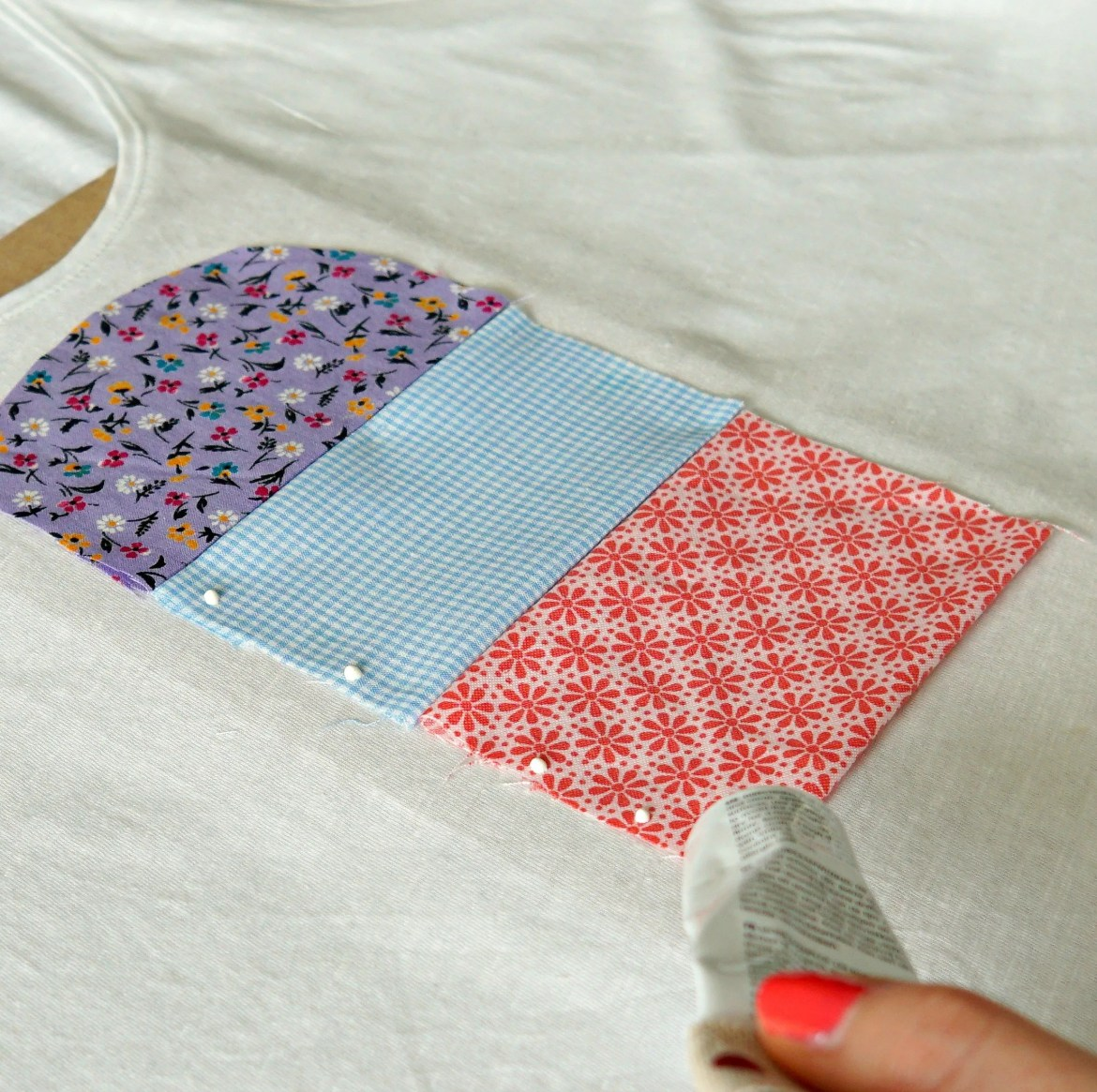 Tutorial on How To make a customized ice cream popsicle shirt with scraps of fabric! DIY by The Makeup Dummy